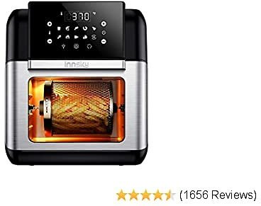 Innsky Air Fryer, 10.6-Quarts Air Oven, Rotisserie Oven, 1500W Electric Air Fryer Oven with LED Digital Touchscreen