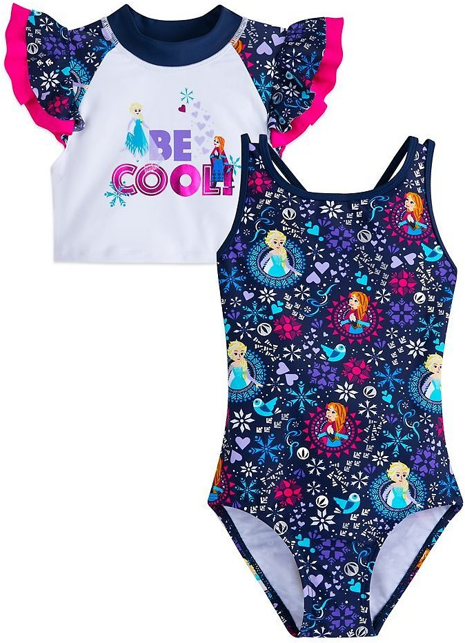 Frozen Swimsuit and Rash Guard Set for Girls | ShopDisney
