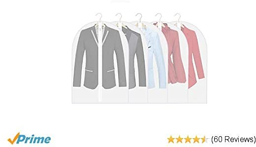 EXTRA 50% OFF Garment Bags, Set of 5 Dust Proof Suit Bags with Full Stainless Steel Zipper(24 X31 Inch)