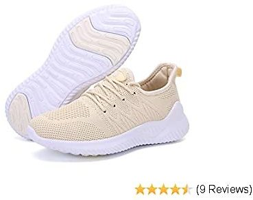 ZOVE Womens Walking Shoes Fashion Athletic Sneakers-Lightweight Slip On Tennis Gym Work Shoes Slip Resistant