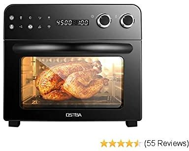 OSTBA Air Fryer Oven 8-in-1 Convection Toaster Oven, Air Fryer, Roaster, Broiler, Rotisserie, Dehydrator, Oven, Toaster, Pizza O