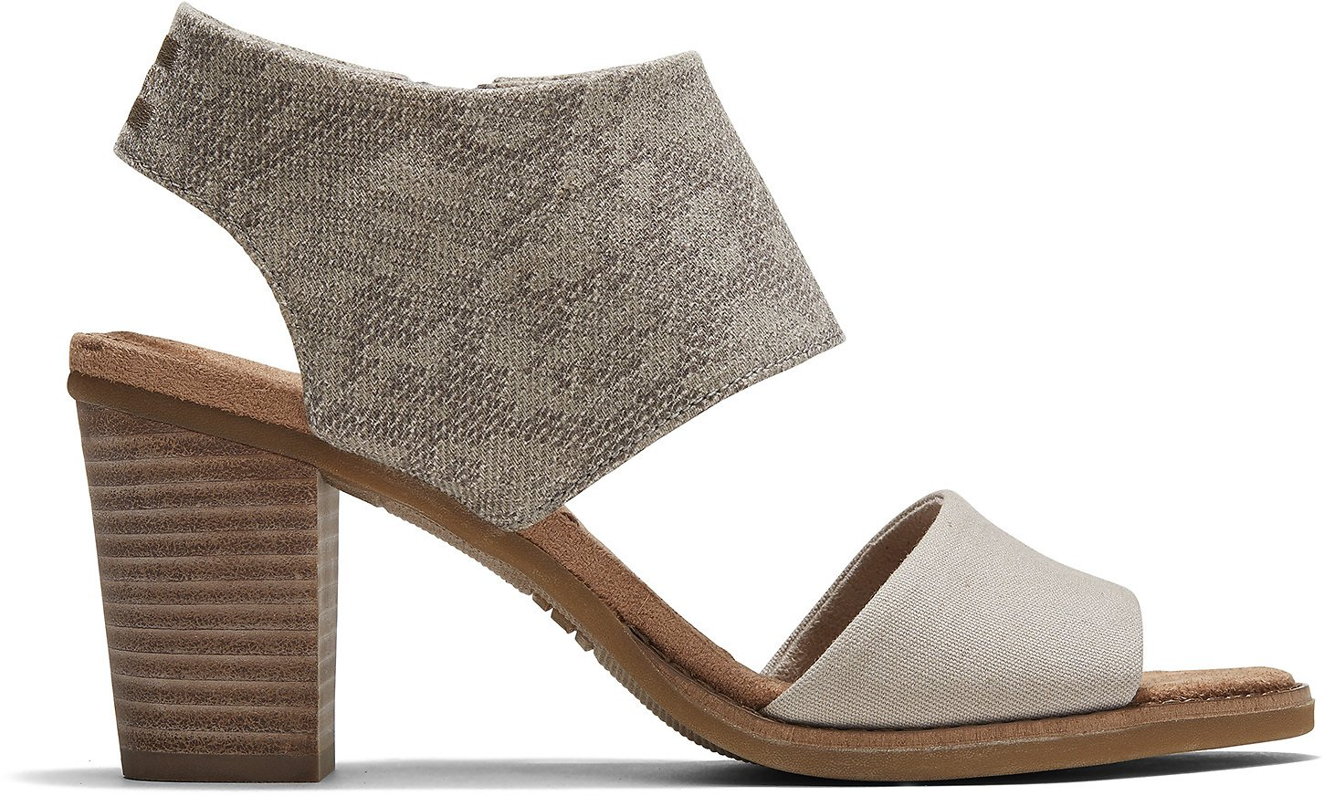 Cobblestone Snake Printed Twill and Canvas Womens Majorca Cutout Sandals | TOMS