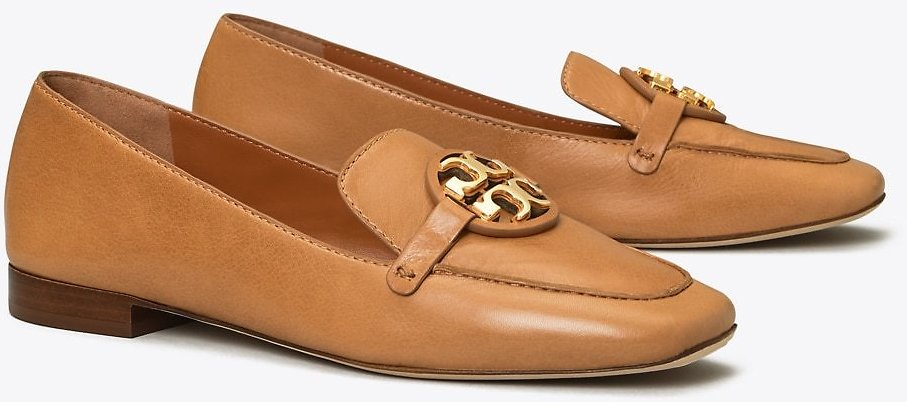 Miller Metal-Logo Loafer, Leather: Women's Shoes | Tory Burch