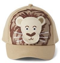 Boys Peek-A-Boo Flap Art Lion Hat