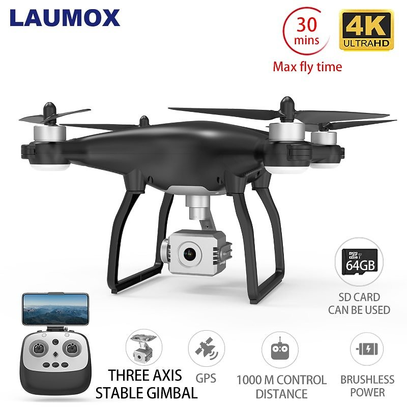 Drone GPS WiFi 4K HD Camera Professional RC Quadcopter Brushless Motor Drones Gimbal Stabilizer 26 Minute Flight
