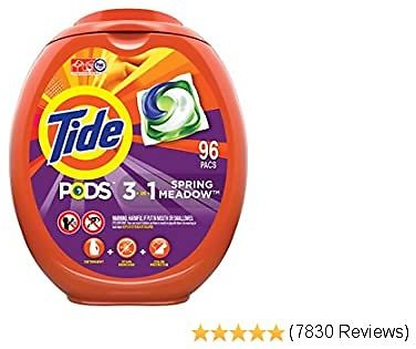 2 for $34 Tide PODS Laundry Detergent Liquid Pacs, Spring Meadow Scent, HE Compatible, 96 Count Per Pack