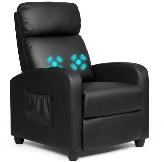 Ergonomic Massaging Recliner with Remote