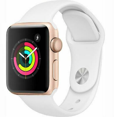 Apple Watch Series 2 38mm Gold Case - White Sport Band 190198129321