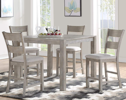 Stratford Hayden Gray Counter-Height 5-Piece Dining Set - Big Lots