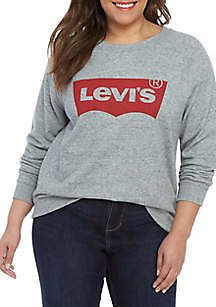 Levi's® Plus Size Relaxed Graphic Crew Neck Fleece T Shirt