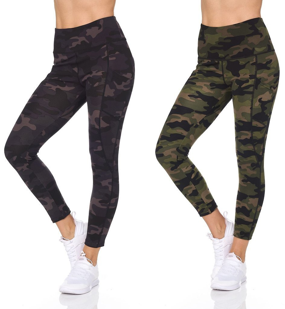 Women's Camo 7/8 High Waist Legging With Pockets