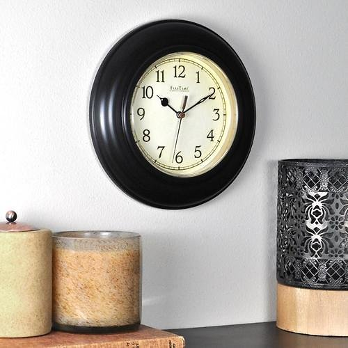 FirsTime & Co. Bronze Plastic Wall Clock + Free Shipping