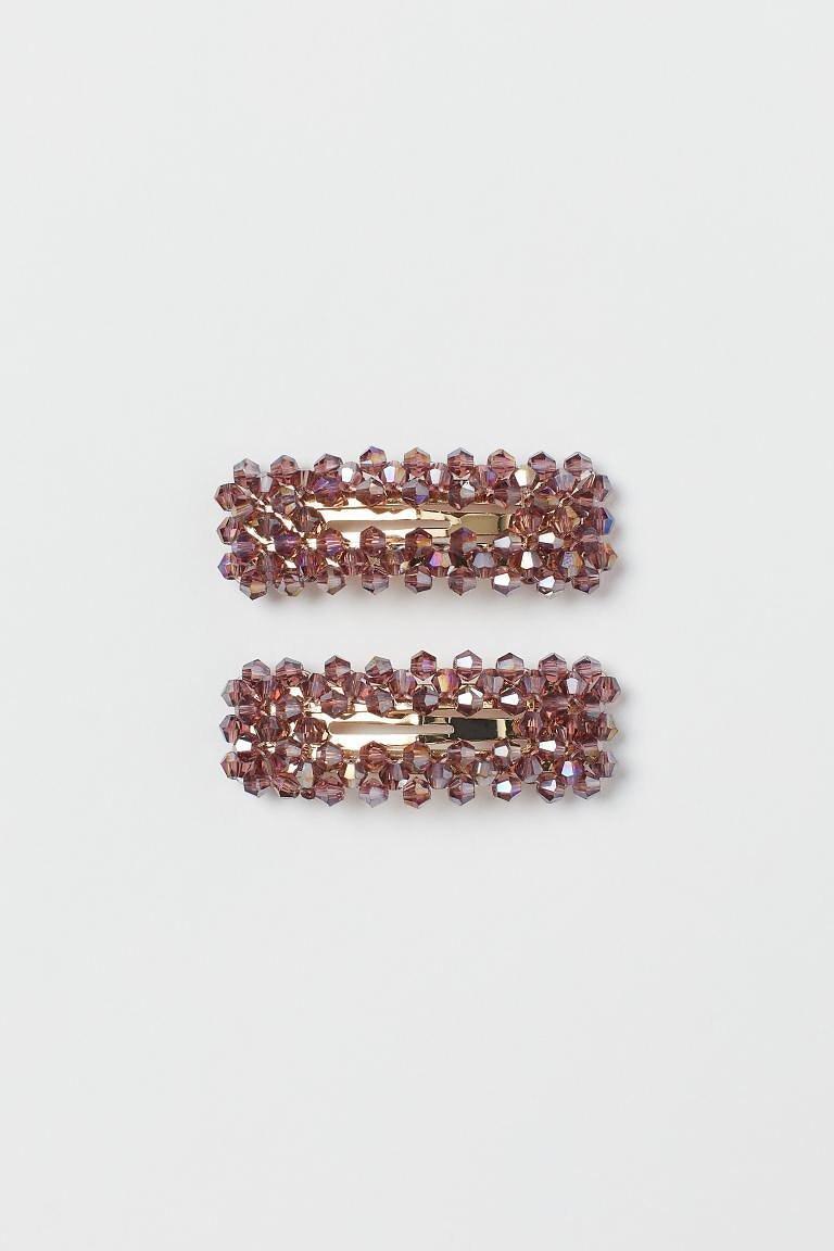 2-pack Hair Clips - Gold-colored/purple - Ladies | H&M US
