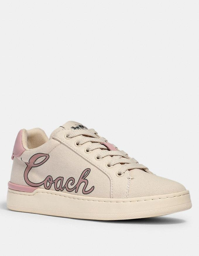 Clip Low Top Sneaker with Coach Print