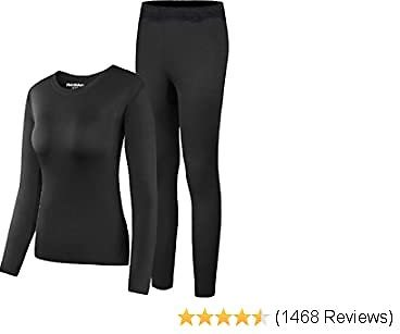 EXTRA 50% OFF Thermal Underwear Women Set Ultra Soft Top and Bottom Winer Warm Long Johns with Fleece Lined