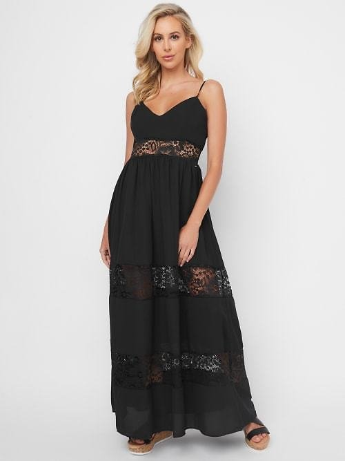 Deea Lace Insert Maxi Dress