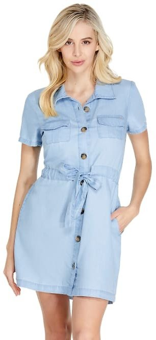 Parker Button-Front Shirtdress