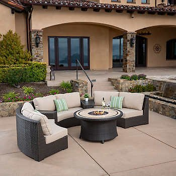 Sidney 6-piece Patio Fire Chat Set
