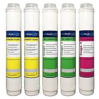 Pure Blue H2O 5PC Reverse Osmosis Filter System Replacement Filters