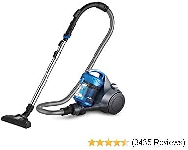 Whirlwind Bagless Canister Vacuum Cleaner, Lightweight Corded Vacuum for Carpets and Hard Floors, Blue