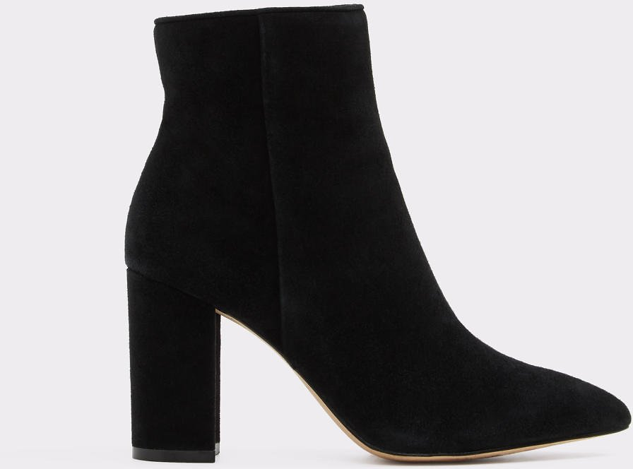 Acaynna Black Leather Suede Women's Boots