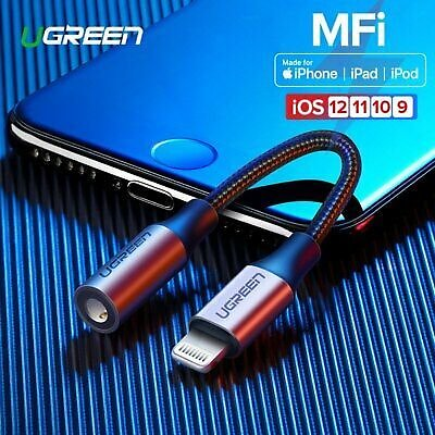 Ugreen For IPhone 8 X MFi Lightning To 3.5mm Jack Earphone Headphone Aux Adapter