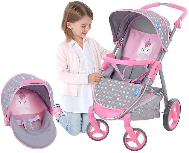 2-In-1 Doll Stroller and Carrier Travel System