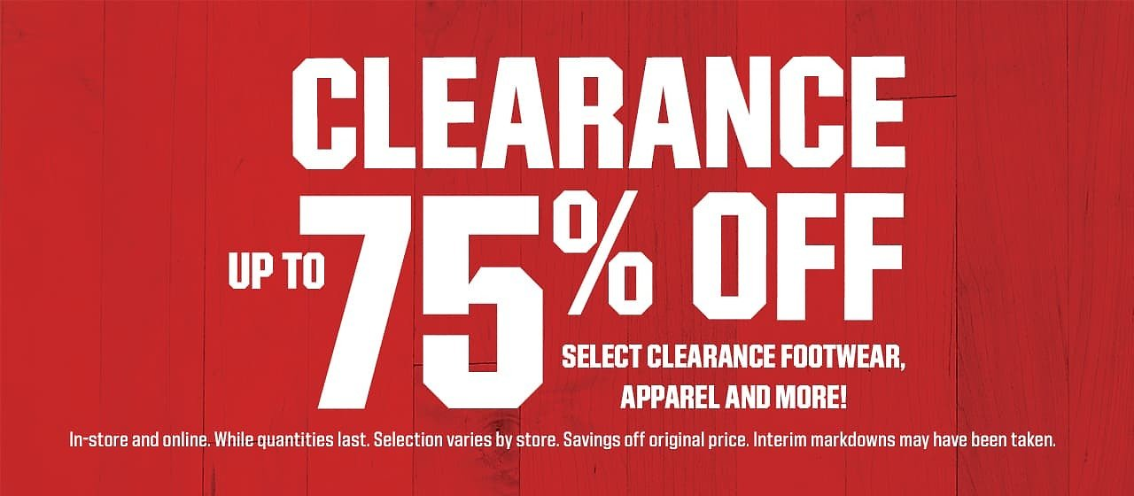 Up To 75% Off Clearance Footwear, Apparel & More
