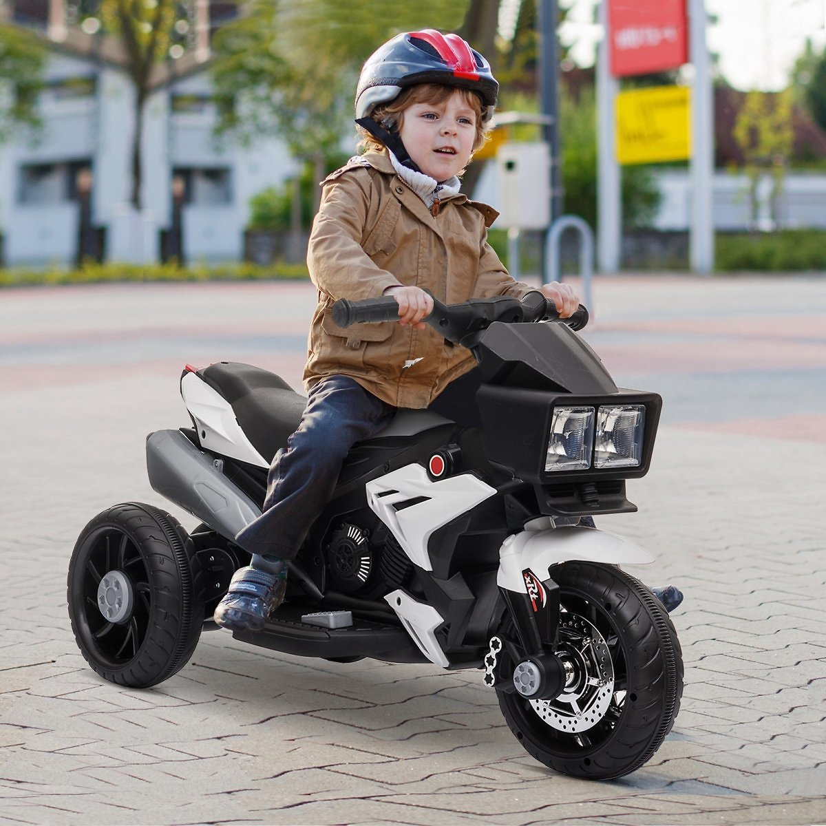 Aosom-Kids-Electric-Pedal-Motorcycle-Ride-On-Toy-6V-Battery-Powered-w-Music-Horn-Headlights-Motorbike