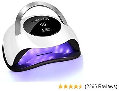 120W LED Nail Lamp, Easkep Faster Nail Dryer for Gel Polish with 4 Timer Setting Professional Gel Lamp Portable Handle Curing Lamp for Fingernail and Toenail Auto Sensor Nail Machine (2020 NEWEST)