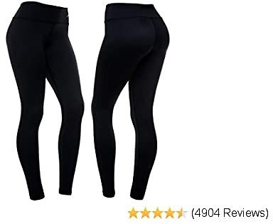 CompressionZ High Waisted Women's Leggings - Compression Pants for Yoga Running Gym & Everyday Fitness