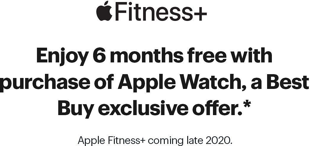 6 Months Free of Apple Fitness+ with Purchase of An Apple Watch