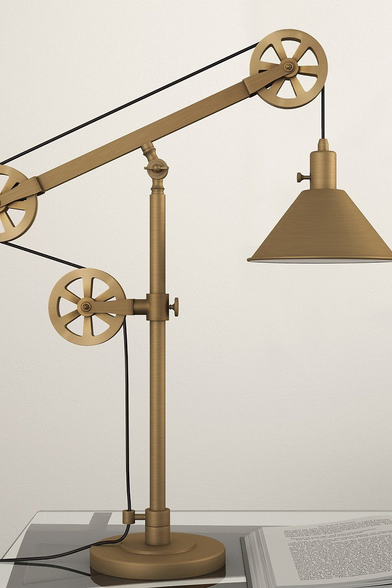 Addison and Lane | Descartes Table Lamp - Brass with Pulley System | Nordstrom Rack