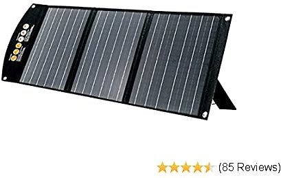 TogoPower 60W Portable Foldable Solar Panel Battery Charger with Dual USB Ports & 18V DC Output for Portable Generator Power Station Cell Phone GoPro Laptop Tablet GPS IPhone IPad Camera