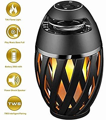 $12 Off On LED Flame Table Lamp, Amzchen Outdoor Torch Atmosphere Bluetooth Speakers with Stereo Sound