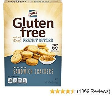 Lance Gluten Free Crackers, Peanut Butter Sandwich Crackers, 5 Ounce (Pack of 4)