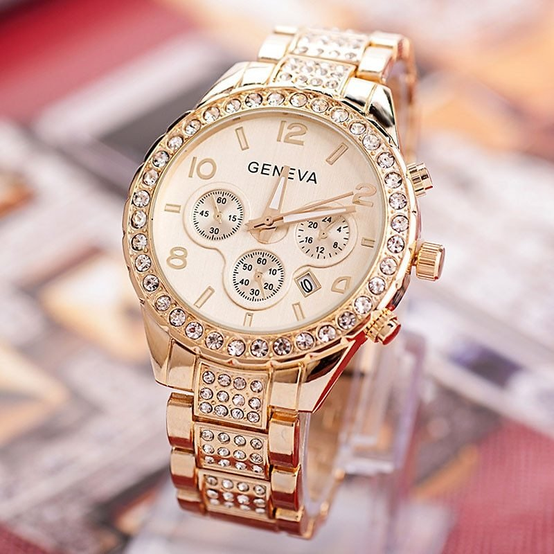 25% OFF Geneva Watch Fashion Women Watches Stainless Steel Exquisite Women Rhinestone Luxury Casual Watch - AliExpress