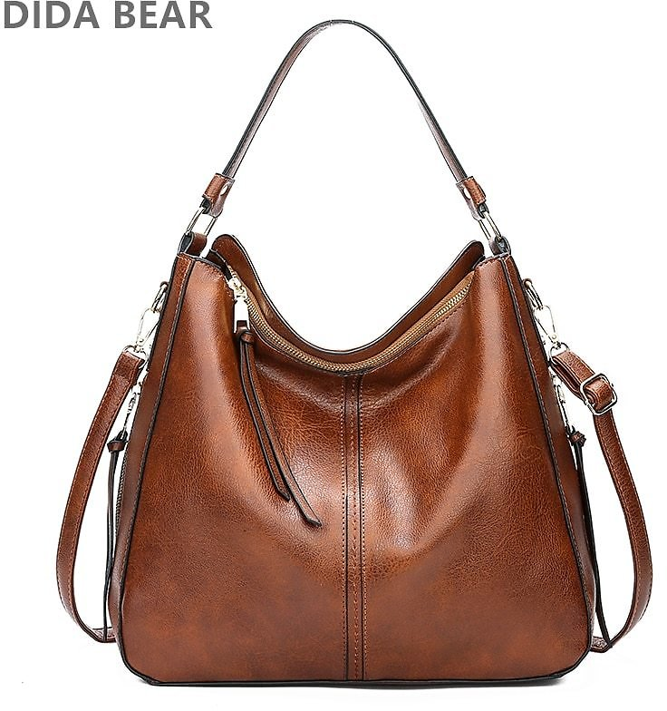 59% OFFDIDABEAR Hobo Bag Leather Women Fashion Purses Vintage Large Capacity - AliExpress
