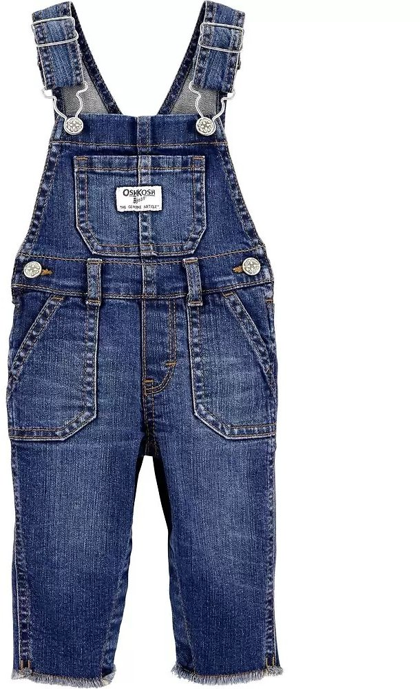 Skinny Fit Stretch Denim Overalls