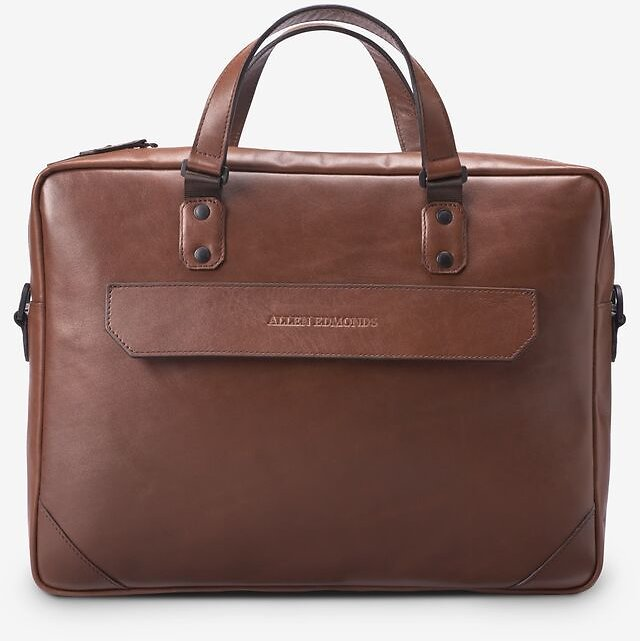 Brown Fulton Slim Leather Briefcase