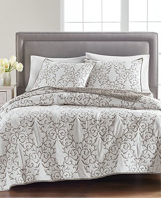 Martha Stewart Collection CLOSEOUT! Cotton Chateau Twin/Twin XL Quilt