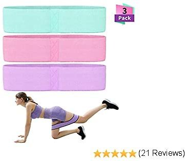 HuaForCity Exercise Loops for Home Fitness,Resistance Bands, Exercise Bands for Legs and Butt?Workout Bands for Stretching and Strength Training, Pilates Flexbands?with Instruction Guide,Carry Bag?