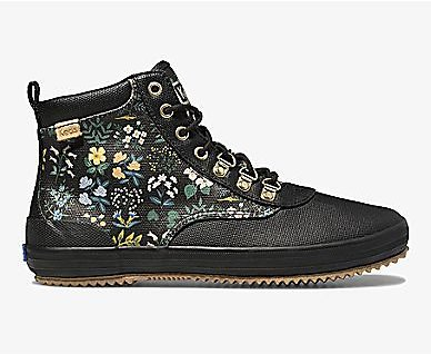 Keds X Rifle Paper Co. Scout Boot Water-Resistant Canvas Wildflower
