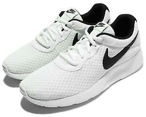 Nike Wmns Tanjun White Black Women Running Lifestyle Shoes Sneakers 812655-100