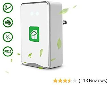 Air Purifier for Home, Plug-in, for Bedroom to Remove Pets Smell, Smoke, Allergies and Smoke Dust No Filter