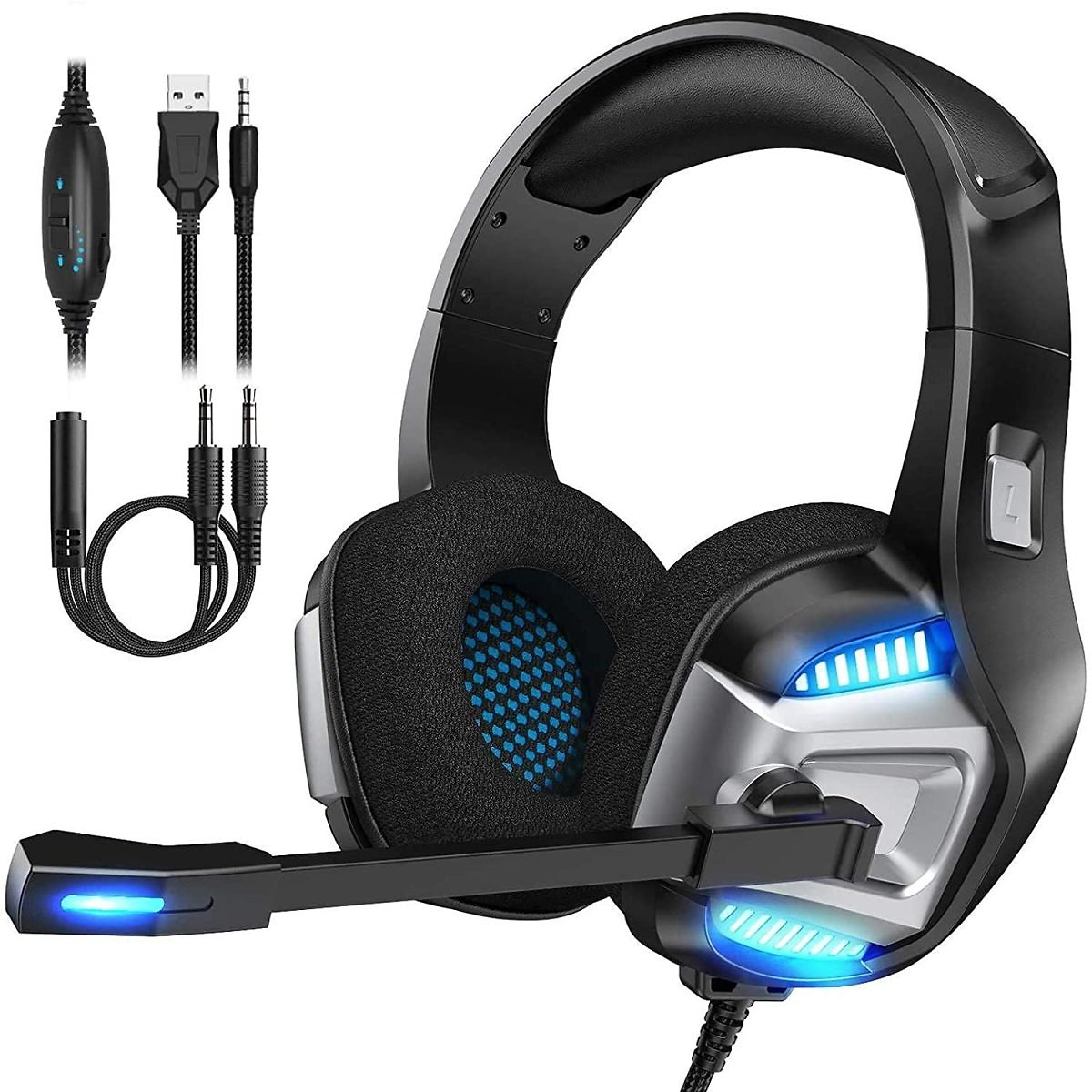 15% Discount - Gaming Headset for Xbox One, PS4 Gaming Headset with 7.1 Surround Sound Stereo