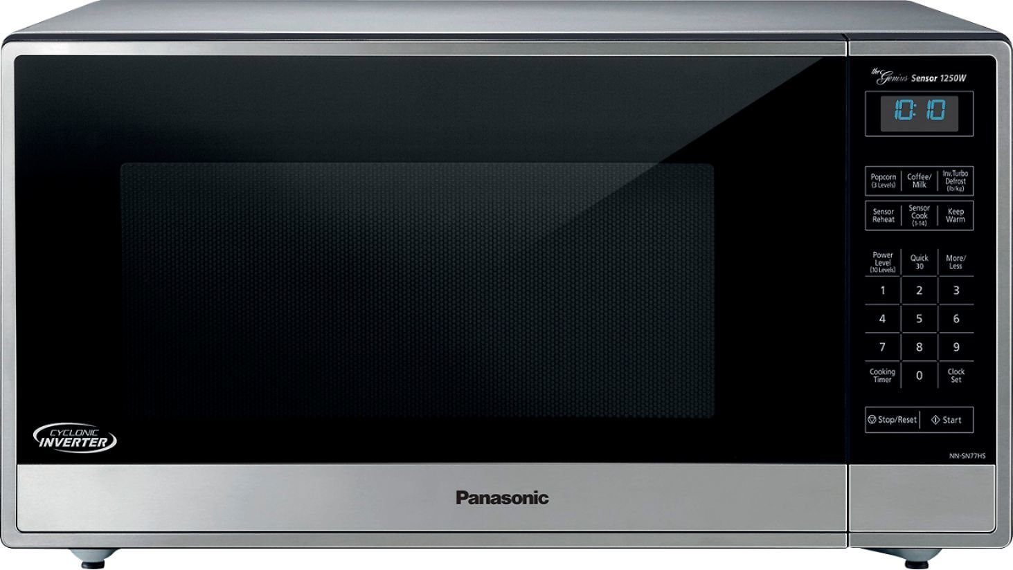 Panasonic 1.6 Cu. Ft. Family-Size Microwave Stainless Steel/silver NN-SN77HS