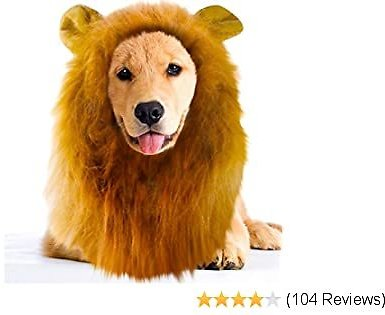 Lion Mane Wig with Ears Pet Costume