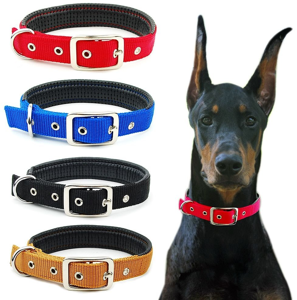 US $3.01 69% OFF|Dog Collar Nylon Padded Reflective Collar Pet Adjustable Outdoor Comfortable Necklace for Large Dogs Pitbull Collier Chien|Collars| - AliExpress