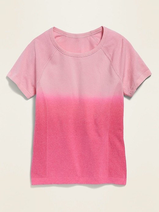 Fitted Go-Dry Seamless Tee for Girls | Old Navy